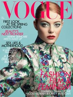 Vogue US July by Mario Testino. Photographed by Mario Testino for Vogue UK August Vogue US May by Craig McDean. Emma covers Vogue US November by Mert & Marcus. Vogue UK February by Craig McDean. Vogue Magazine Covers, Vogue Covers, Emma Stone, Paul Gaultier Spring, Uk Magazines, Fashion Magazines, Central Saint Martins, Vogue Uk, Teen Vogue