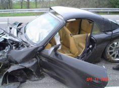 Mega Crash von einem Porsche 996 Cabrio auf der Autobahn