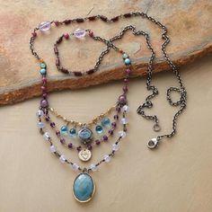 Jes MaHarry Tiered Gemstone Necklace                                              | Robert Redford's Sundance Catalog