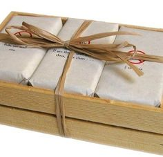 Man Soap Gift Set Wood Crate -you can put different labels like shower with me lol