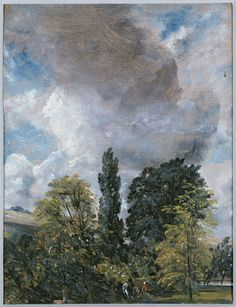 The Close, Salisbury, England (made)  Date: 15/07/1829 (made)  Artist/Maker: Constable, John RA, born 1776 - died 1837 (artist)  Materials and Techniques: Oil on paper
