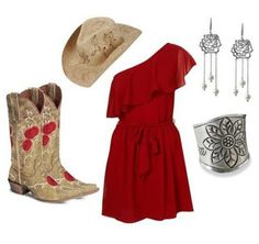 Lovin this red dress! #contryfashion #countryoutifit #countrystyle #countrygirl For more Cute n' Country visit: www.cutencountry.com and www.facebook.com/cuteandcountry