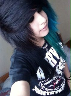 Scene hair // she's wearing an A Day To Remember shirt :3