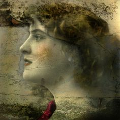 Mixed Media/Altered Art - Reworked Vintage Photo