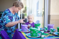 Kids party table - Barney 2nd Birthday Parties, Birthday Ideas, Barney Party, Kids Party Tables, Little Boys, Party Ideas, Baby Boys, Anniversary Ideas, Ideas Party