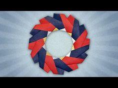 Origami Celtic Brooch (José Meeusen) - YouTube