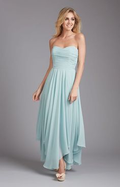 2086636c5d Allure Bridesmaids 1369 is a gorgeous gown! The asymmetrical hem on the  skirt flows gracefully