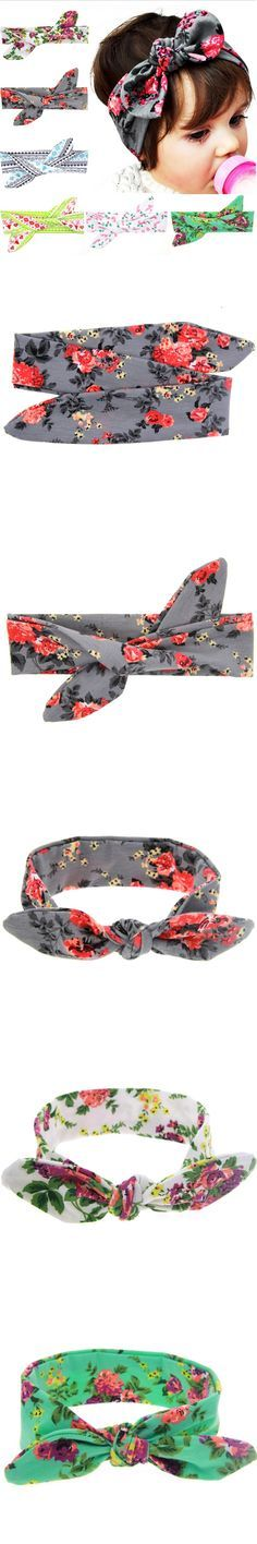DIY Free Size Baby Flower Headband Toddler Soft Girl Kids Cross Hairband Turban Knitte Knot Headwear Hair Accessories w--205