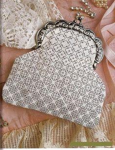 .blackwork purse