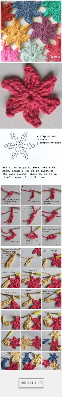 #Crochet_Tutorial - Join as you go flowers. Great idea! Enjoy from #KnittingGuru ** http://www.pinterest.com/KnittingGuru