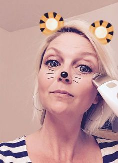 Snapchat and Galvanic Spa - what a combo  fun with my favourite anti-aging device   #galvanicspa #snapchat