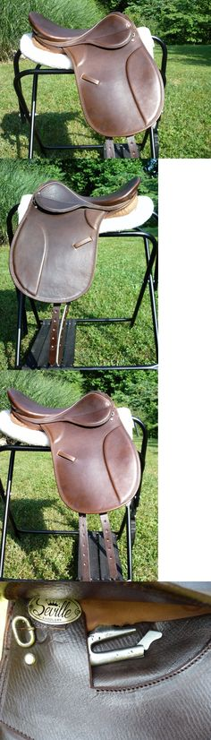 Saddles 47281: New 16 Seville Child S Youth Brown Ap English Saddle Don Gustavo Dressage L@@K! -> BUY IT NOW ONLY: $195 on eBay!
