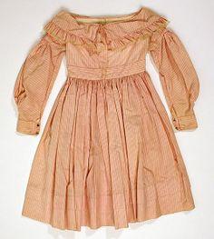 1830er, vermutlich Kinderkleid, Baumwolle, Amerika