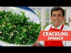 You would never have imagined making such a crispy snack with spinach! In this unique recipe, finely shredded spinach is deep-fried till crisp and perked up . Spinach Recipes, Vegetable Recipes, Vegetarian Chinese Recipes, Sanjeev Kapoor, Spinach Leaves, Master Chef, Appetisers, Daily Meals, Unique Recipes