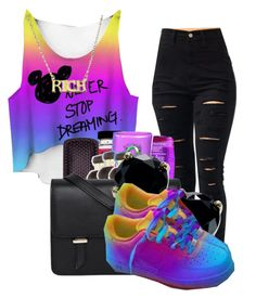 """""""Never stop dreaming"""" by carameldelightboo ❤ liked on Polyvore featuring Sloane, B. Brilliant and NIKE"""