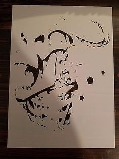 Multilayer STEP BY STEP airbrush stencil BLACK PANTHER