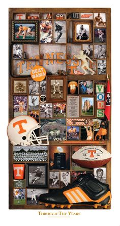 University of Tennessee Vols Through The Years History Football Art Print