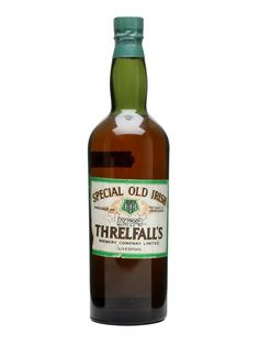Threlfall's Special Old Irish Whiskey - : The Whisky Exchange Scotch Whiskey, Bourbon Whiskey, British Beer, Old Irish, Really Good Stuff, Old Bottles, Wine And Beer, Distillery, Hot Sauce Bottles
