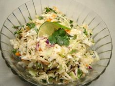 Mexican Coleslaw With Spicy Lime Vinaigrette from Food.com: A combination of Kalyn's Kitchen's Spicy Mexican Slaw and few adaptions of mine to eliminate the mayo in the dressing.
