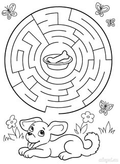 Toddler Learning Activities, Baby Learning, Activities For Kids, Free Printable Puzzles, Maze Worksheet, Abc Phonics, Mazes For Kids, Easter Coloring Pages, Kids Math Worksheets