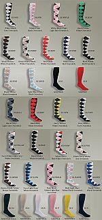 The Highlands Argyle Women's Golf Sock Collection