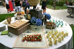 it's a small world baby shower theme | baby shower food table