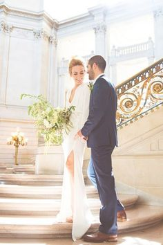 559a13b7d2c A City Hall Wedding We Can t Stop Looking At. Bride NailsWedding Dress ...