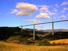 Millau Bridge. Viaduc de Millau. France. #Belvedere #Quarante #Herault #Languedoc