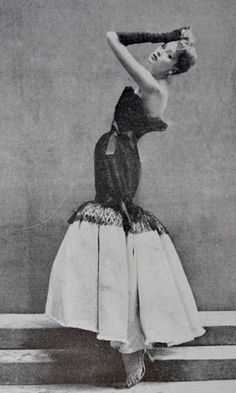 Vintage Balenciaga dress 1952 Richard Avedon Harper's Bazaar 1952