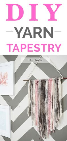 I've been seeing these super cute yarn tapestries everywhere, and I couldn't wait to learn how to make one myself! It didn't seem too difficult, so I tried it out. And what do you know…it was so simple to put together! All it requires is a few materials and a little bit of time, and you get a pretty decor piece for your home.