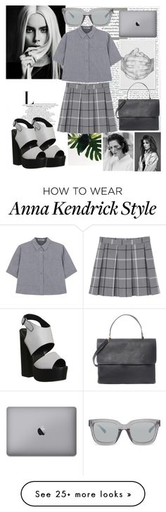 """""""Greyish Working Outfit"""" by shesanies on Polyvore featuring Monki, T By Alexander Wang, Office, Eddie and 3.1 Phillip Lim"""
