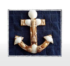 SeaShell Boat/Ship Anchor Plague Beach Decor Nautical by Eagle414