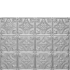 0604 PRINCESS VICTORIA BACKSPLASH - Mill Finish Aluminum by Decorative Ceiling Tiles Inc.. $6.50. Our Mill Finish Aluminum is the most popular finish because of its affordable pricing, light wight and the fact that the tiles will not rust. Although they will not rust, they will oxidize and they have to be primed and painted from the face side. These tiles are about half as heavy as our Tin Plated Steel Tiles and are also easier to work with as Aluminum is a softer m...