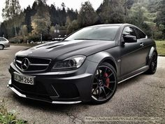 If I'd ever get a Mercedes, it would be this one. Mercedes Benz C63 AMG (Matte Black).