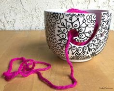 How to make a puppy paint yarn bowl!
