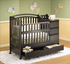 love these kind of cribs. extra storage and some even have a changing table! would be perfect in a smaller nursery so there is more room for other things or just simply more room