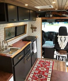 This Converted Sprinter Van is a Surprisingly Livable Tiny House on Wheels - Van Life Van Living, Tiny House Living, Small Living, Van Conversion Interior, Conversion Van, Sprinter Van Conversion, Van Conversion Upholstery, Van Conversion Kitchen, Caravan Conversion