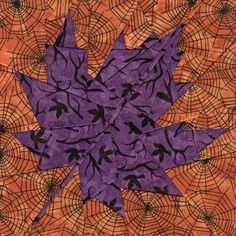 Fall Maple Leaf paper piecing pattern by Whims and Fancies