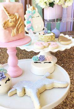 Unicorn sweets from a Unicorn 3rd Birthday Party on Kara's Party Ideas | KarasPartyIdeas.com (15)
