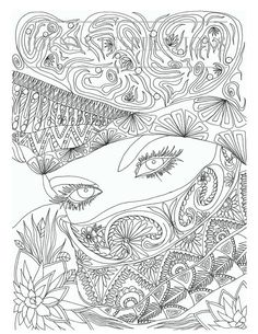 Faces of the World Adult Coloring Pages by Joenay Inspirations