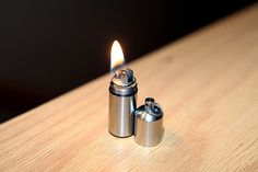 Editor's Note: Just FYI, for everyone who wants one of these, it's the CountyComm Split Pea Stainless Steel Lighter. Metal Lathe Projects, Wood Turning Projects, Woodworking Jobs, Easy Woodworking Projects, Emergency Preparedness Kit, Survival Tools, Wood Lathe, Wood And Metal, Metal Working
