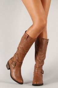 Daland-2-U Zipper Buckle Riding Knee High Boot--these are cute. I might have to buy them.