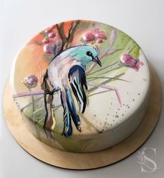 Новости Hand Painted Cakes, Glass Cakes, Cakes And More, Cake Decorating, Photo Wall, Plates, Tableware, Food, Stained Glass