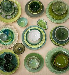 De louça nova no #BlogPitadas: um aparelho marrom artesanal ou verde setentista
