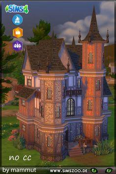Blackys Sims 4 Zoo: Burg Pinea by mammut Sims 2 House, Sims 4 House Plans, Sims 4 House Building, Sims 4 House Design, Sims 3, Sims Love, Sims 4 Mods, Sims 4 Houses Layout, House Layouts