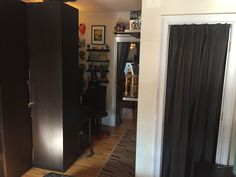 Bedroom/Office Pic 5 : As you can see behind the wardrobe we placed a nice sized corner desk that also has storage.
