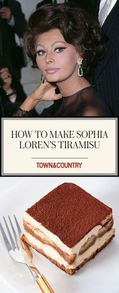 Sophia Loren's Tiramisu recipe