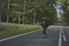 "downhill for life , downhill skateboarding through the forest """" ! czech"