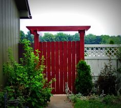 Reused Wood From Old Deck to Make Arbor