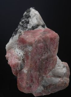 Rhodonite on Calcite with Franklinite Signs And Symbols Meaning, Sussex County, Rough Diamond, Rocks And Minerals, Fossils, Geology, Stones And Crystals, Agate, Michigan